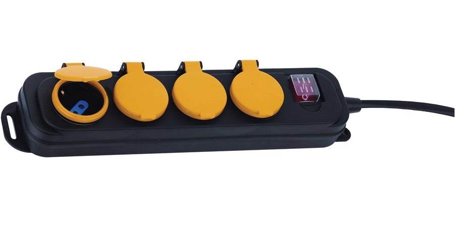 MULTIPRESA 4 POSTI IMPERMEABILE (CC 9574) WATERPROOF