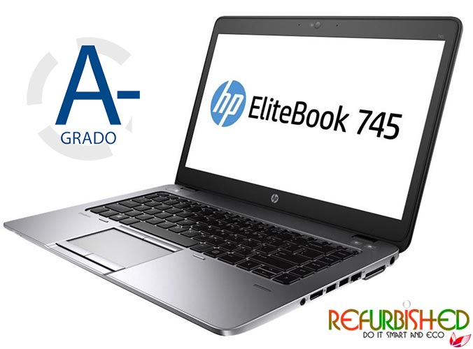 "NOTEBOOK ELITEBOOK 745 AMD A8PRO-7150B 14"" WINDOWS 10 PRO - RICONDIZIONATO - GAR. 12 MESI"