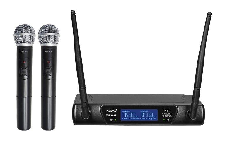 RADIOMICROFONO DOPPIO PALMARE VHF (SET 6092A) 175.50/197.15 MHZ